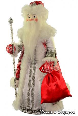 Кукла Морозко из сказки в красной шубе