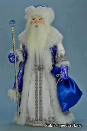 фото кукла Морозко из сказки в синей шубе