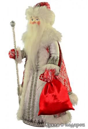 Кукла Морозко из сказки с мешком и посохом