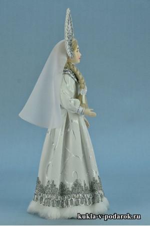 фото русская Снегурочка рукодельная кукла