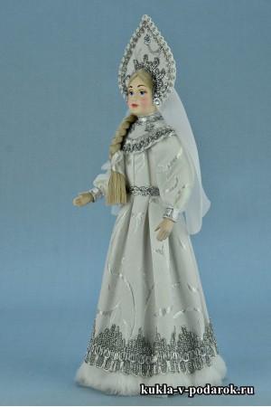фото русская кукла Снегурочка в подарок на Новый год