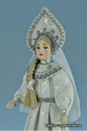 фото русская народная кукла Снегурочка