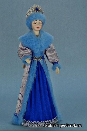 фото Снегурочка из СССР кукла в синем с голубым костюме