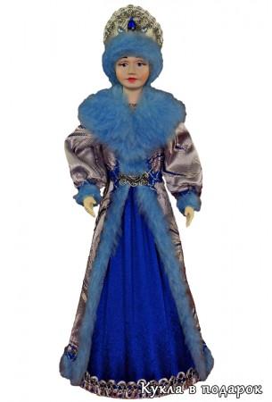 Снегурочка из СССР кукла в синем с голубым костюме