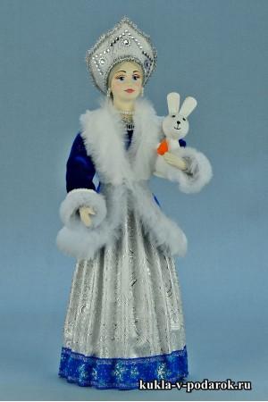 фото Снегурочка кукла в русском народном костюме