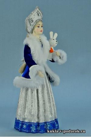 фото Снегурочка в кокошнике кукла в подарок