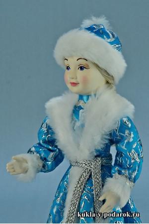 фото Снегурочка девочка новогодний подарок под елку