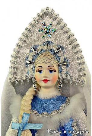 Фарфоровая кукла Снегурочка