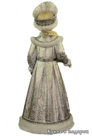 Снегурочка подарок в серебристой одежде