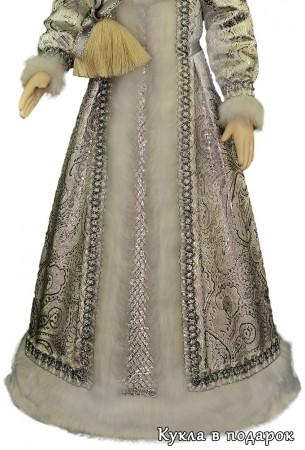 Отделка платья кукла Снегурочка в подарок