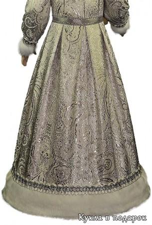 Серебристая ткань куклы в подарок Снегурочка