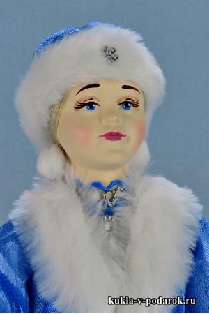 фото новогодняя Снегурочка фарфоровая кукла