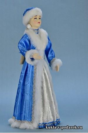 фото новогодняя Снегурочка кукла ручная работа