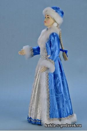 фото новогодняя Снегурочка в голубом наряде