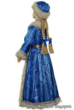 Новогодняя кукла Снегурочка в голубом наряде