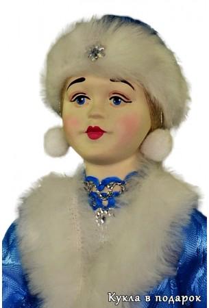 Снегурочка новогодняя кукла фарфоровые руки и голова