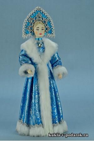 Фото Снегурочка игрушка в голубом наряде