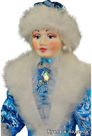 Кукла из фарфора Снегурочка игрушка