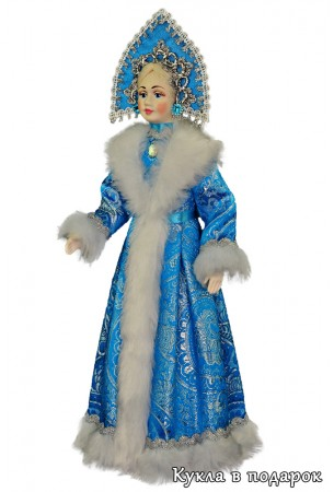 Кукла Снегурочка игрушка новогодний сувенир