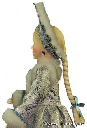 Снегурочка внучка готовая кукла с сережками