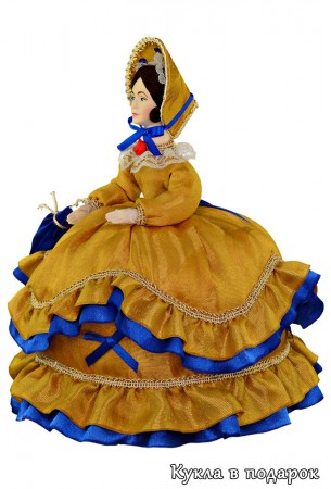 Бантики на одежде куклы на чайник
