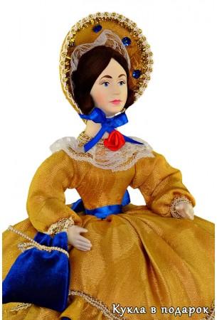 Текстильная кукла на чайник ручная работа
