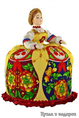 Баба на чайник авторская кукла