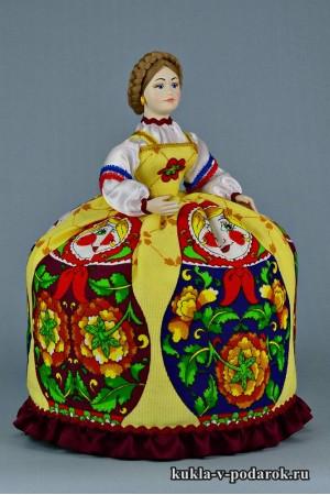 Фото баба на чайник авторская кукла