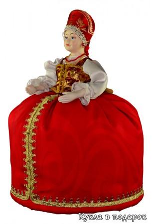 Оригинальная кукла грелка на чайник заварник