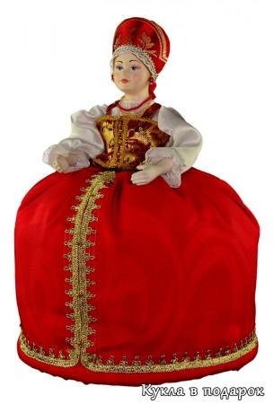 Фарфоровая кукла грелка на заварочный чайник