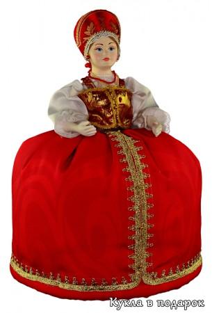 Красивая кукла грелка на чайник заварник