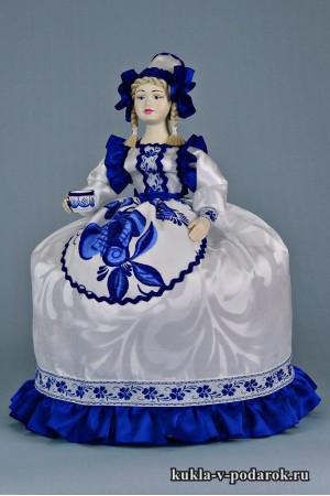 фото в стиле Гжель кукла подарок на кухню