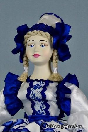 фото в стиле Гжель кукла красивый подарок