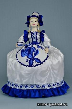 фото в стиле Гжель русская кукла подарок