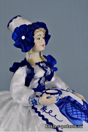 фото в стиле Гжель кукла на чайник