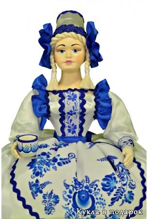 Русский стиль Гжель кукла в подарок