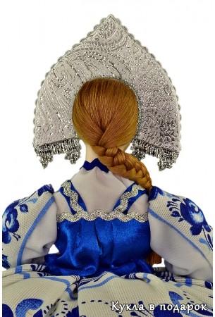 Гжель сувенир на чайник кукла грелка