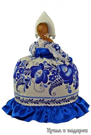 Гжель сувенир на чайник сделано в России