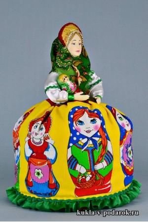 Матрешка русская кукла сувенир из Москвы