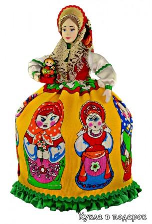 Русский подарок кукла грелка Матрешка