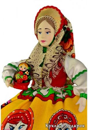 Недорогая авторская кукла Матрешка купить в Москве