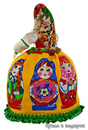 Сувенир из России кукла Матрешка грелка на чайник
