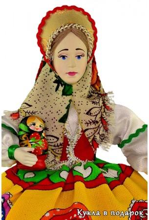 Матрешка в подарок кукла в русском стиле