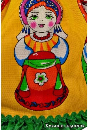 Детали ткани одежды куклы Матрешка