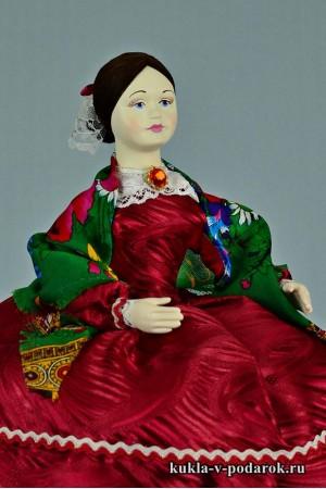 фото Барышня на чайник русская кукла