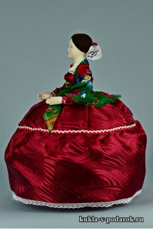 фото Барышня на чайник кукла с бантом