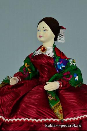 фото Барышня кукла грелка на чайник