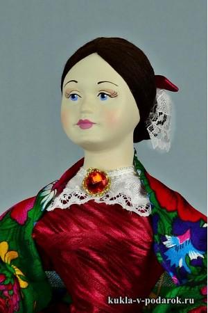 фото Барышня на чайник кукла