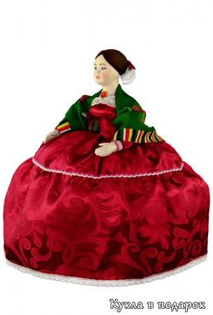 Барышня на чайник кукла с бантом