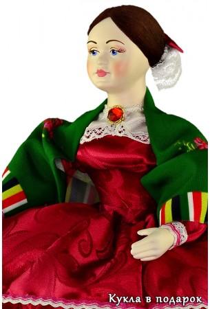 Барышня кукла грелка на чайник